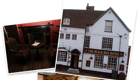 Welcome to the Black Boy Inn, Bewdley