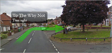 The Why Not directions - From south